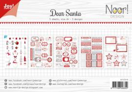 Label vellen Joy!Crafts - Dear Santa (A4-formaat)