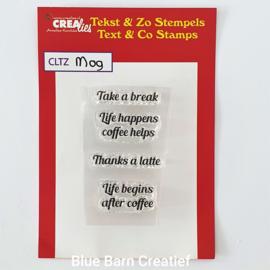 CreaLies clear stamp - Take a break