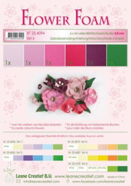 Flower Foam set 5 - Rood/Roze
