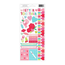 Pink Paislee stickers - Lucky Us (76 stuks)