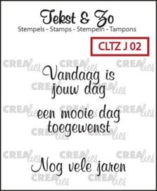 CreaLies clear stamp - Vandaag is jouw dag