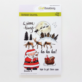 Clear Stamp CraftEmotions - Santa 2 (A6-formaat)