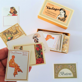 Vintage Label Stickers - Reclame labels (set 60 stuks)