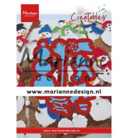 Snijmal Marianne Design - Tiny's Frosty Snowmen