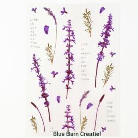 Transparant Stickervel - Lavendel