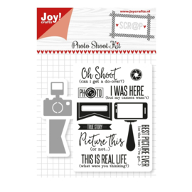 Joy!Crafts snijstencil + stempel - Photo Shoot Kit