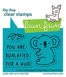 Clear Stamp Lawn Fawn (flip-flop) - I Love You