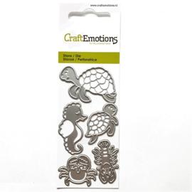 Snijmal CraftEmotions - Schildpad & Zeepaardje