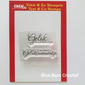 CreaLies clear stamp - Geluk zit in de kleine dingen