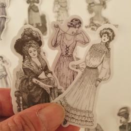 Vintage Vrouwen #1 (set  14 stuks)