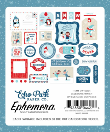 Die-Cuts Echo Park - Celebrate Winter (Ephemera)