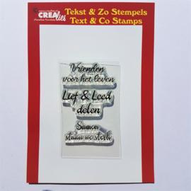 CreaLies clear stamp - Vrienden voor het leven