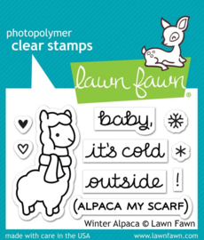 Clear Stamp Lawn Fawn - Winter Alpaca