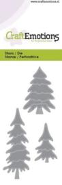 Snijmal CraftEmotions - Dennenbomen