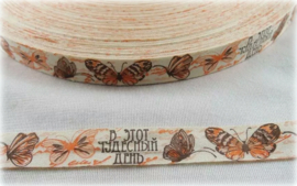 Lint - Vintage Vlinders oranje