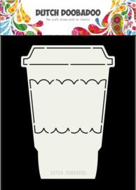 Dutch Doobadoo Stencil - Koffie Mok