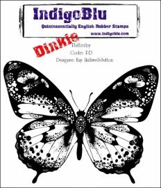 Rubber Stamp - IndigoBlu - Flutterby