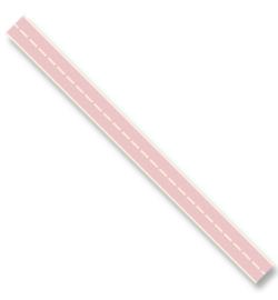 Katoen  lint - Stitched Roze (3 meter)