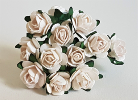 Paper Rose 2 cm - Wit (set 12 stuks)