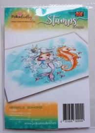 Clear Stamp PolkaDoodles - Meribelle Seahorse