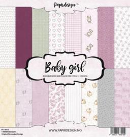 "Paperpad Papirdesign - Baby Girl 12"""
