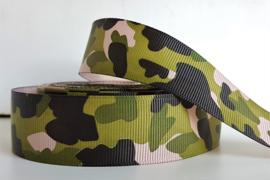 Lint - Camouflage motief 'groen/zwart'