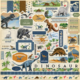 Carta Bella stickers - Dinosaurs