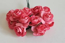 Paper Rose 1,5 cm - Watermeloen (set 12 stuks)
