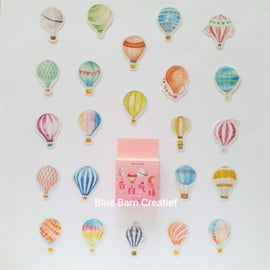 Planner Stickers - Hot Air Balloons (set 45 stuks)