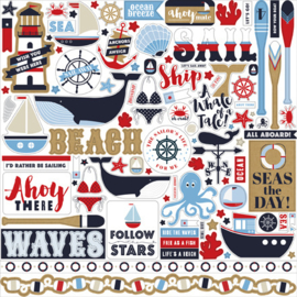 Carta Bella stickers - Deep Blue Sea