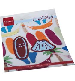 Snijmal Marianne Design - Surfplank & Slippers