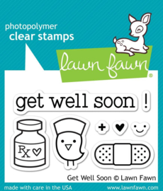 Clear Stamp Lawn Fawn - Get well soon!