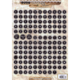 Knipvel StudioLight - Typemachine letters & cijfers