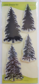 Clear Stamp Leane Creatief - Christmas Trees