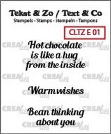 Clear Stamp - E 01 - Tekst & Zo Stempels