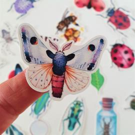 Set Vintage Insecten stickers (set 36 stuks)