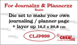 Snijmal CreaLies - Journal & Planner pagina + extra laag