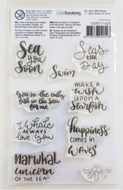 Clear Stamp CraftEmotions - Ocean quotes (A6 formaat)