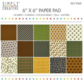 PaperPad Simply Creative - Go Wild 6""