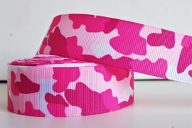 Lint - Camouflage motief 'roze'