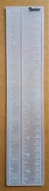 Embosssing template - Ruler (6,5 x 30,5 cm)