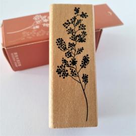 Vintage houten stempel - Botanisch gras 7