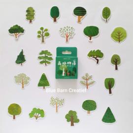 Planner Stickers - Bomen (set 45 stuks)