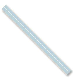 Katoen lint - Stitched Blauw (3 meter)