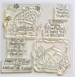 Clear Stamp - Cold Twigs Warm Hearts