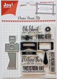 Joy!Crafts snijstencil + stempel - Photo Shoot Kit
