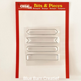 CreaLies clear stamp - strip set A (outline)