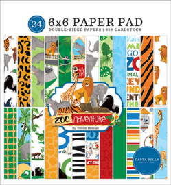 PaperPad Carta Bella - Zoo Adventure 6""