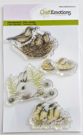 Clear Stamp CraftEmotions - Konijn / Vogels