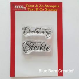 CreaLies clear stamp - met oprechte Deelneming
